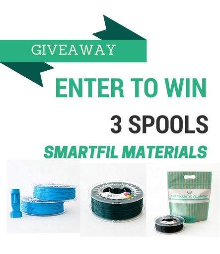 Giveaway: Enter our contest to win 3D Printing Filaments